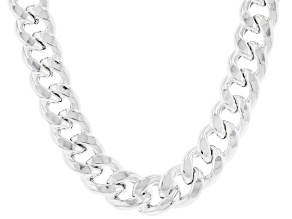 Pre-Owned Sterling Silver 11.4MM Grumette Chain