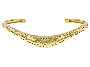 Pre-Owned 18K Yellow Gold Over Silver Boomerang Bracelet