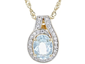 """Pre-Owned Cabo Delgado Apatite 18K Yellow Gold Over Silver Pendant With 18"""" Chain 1.60ctw"""