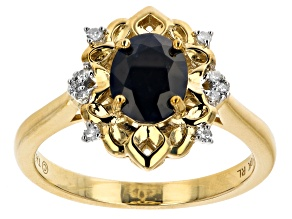 Pre-Owned Blue Sapphire 10k Yellow Gold Ring 1.35ctw