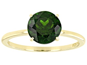 Pre-Owned Green Chrome Diopside 10k Yellow Gold Solitaire Ring 1.98ct