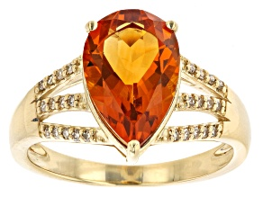 Pre-Owned Orange Citrine 10k Yellow Gold Ring 2.35ctw