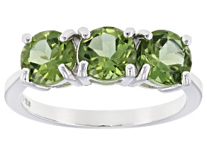 Pre-Owned Green Apatite Sterling Silver Ring 2.22ctw