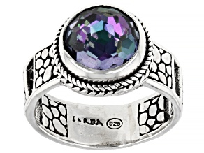 Pre-Owned Exaggeration™ Quartz Silver Watermark Ring 2.55ct