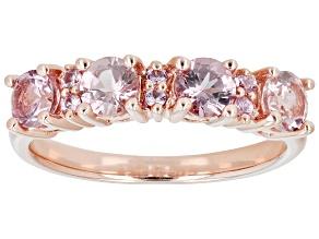 Pre-Owned Pink Garnet 18K Rose Gold Over Sterling Silver Ring 1.08ctw