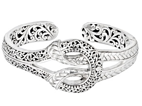 """Pre-Owned Silver """"Pray For One Another II"""" Filigree & Weave Bracelet"""