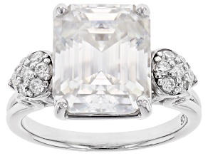 Pre-Owned Moissanite platineve ring 6.75ctw DEW.
