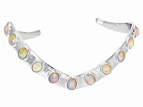 Pre-Owned Ethiopian Opal Silver Cuff Bracelet 4.86ctw