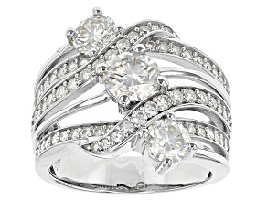 Pre-Owned Moissanite Platineve Ring 2.54ctw D.E.W