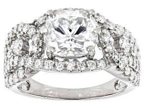 Pre-Owned Moissanite Platineve Ring 3.84ctw Dew