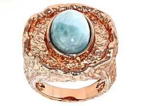 Pre-Owned Larimar Copper Ring