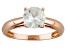 Pre-Owned White Zircon Solitaire 14k Rose Gold Ring 1.92ct.