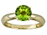 Pre-Owned Manchurian Peridot™ 1.32ct Round 14k Yellow Gold Solitaire Ring
