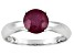 Pre-Owned Mahaleo Ruby Solid 14kt White Gold Solitaire Ring 1.6ctw