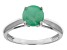 Pre-Owned Green Brazilian Emerald 14k White Gold Ring 1.17ctw.