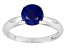 Pre-Owned Womens 1.6ctw 7mm Round Blue Sapphire Solid 14kt White Gold Solitaire Ring
