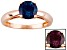 Pre-Owned Color Change Lab Created Alexandrite 14k Rose Gold Ring 1.66ct.
