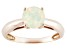 Pre-Owned Multi Color Ethiopian Opal 14k Rose Gold Ring .86ct.