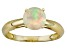 Pre-Owned .64ct 7mm Round Faceted Ethiopian Opal 14k Yellow Gold Solitaire Ring