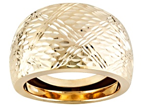 Pre-Owned 10k Yellow Gold Diamond Cut Dome Ring