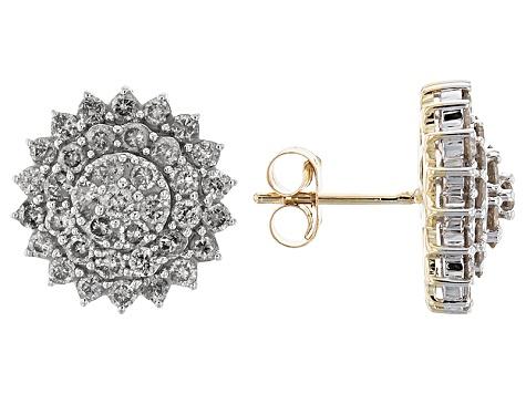 7af831442 Diamond 10k Yellow Gold Earrings 2.00ctw - POP39894 | JTV.com
