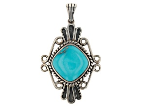 Blue Turquoise Sterling Silver Enhancer