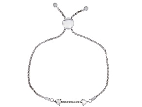 Moissanite Platineve Adjustable Bracelet .70ctw DEW