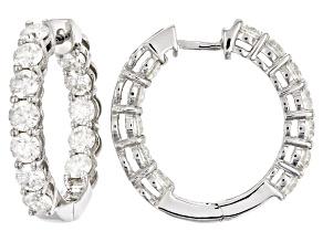 Pre-Owned Moissanite Earrings Platineve™ 3.84ctw DEW