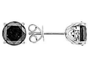 Pre-Owned Black Diamond Rhodium Over Sterling Silver Earrings 3.00ctw