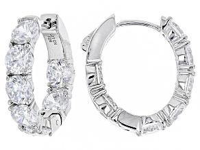 Pre-Owned Cubic Zirconia Sterling Silver Earrings 12.56ctw