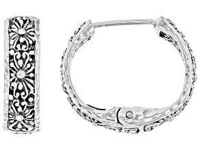 "Pre-Owned Sterling Silver ""Promise Keeper"" Earrings"