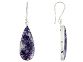Pre-Owned Purple Mexican Morado Opal Sterling Silver Earrings