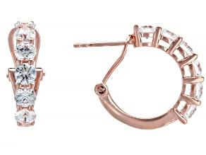 Pre-Owned White Zirconia From Swarovski ® 18K Rose Gold Over Sterling Silver Earrings 3.22ctw