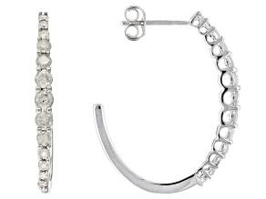 Pre-Owned White Diamond 10k White Gold Earrings 1.50ctw