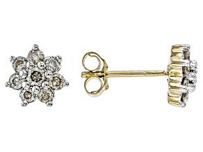 Pre-Owned Diamond 10k Yellow Gold Earrings .33ctw