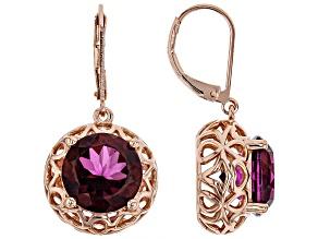 Pre-Owned Unchanging™ Quartz Copper Dangle Earrings 10.45ctw