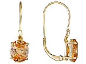 Pre-Owned Brown Cubic Zirconia 18k Yellow Gold Over Silver Earrings 9.70ctw