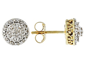 Pre-Owned White Diamond 10k Yellow Gold Earrings .20ctw