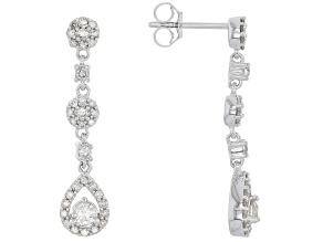 Pre-Owned White Diamond 10k White Gold Earrings .50ctw