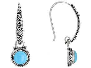 Pre-Owned Turquoise Sleeping Beauty Silver Earrings