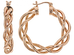 Pre-Owned Copper Twisted Hoop Earrings
