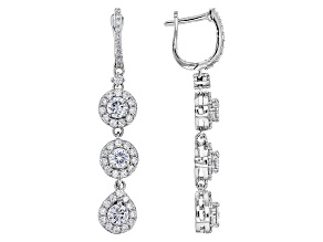 Pre-Owned Moissanite Platineve Earrings 3.00ctw D.E.W