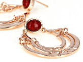 Pre-Owned Red Coral Copper Earrings