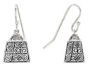 Pre-Owned Sterling Silver Bell Earrings