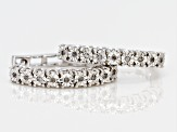 Pre-Owned Diamond Rhodium Over Sterling Silver Earrings .10ctw