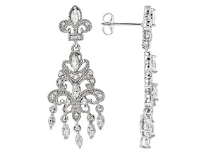 Pre-Owned White Cubic Zirconia Platineve Earrings 2.07ctw