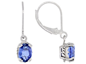 Pre-Owned Blue Kyanite Sterling Silver Earrings 1.50ctw