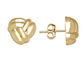 Pre-Owned 14k Yellow Gold Love Knot Stud Earrings    Hollow Center