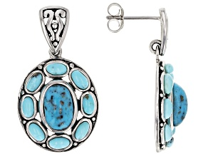 Pre-Owned Blue turquoise sterling silver earrings