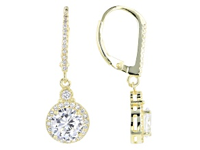 Pre-Owned Cubic Zirconia 18k Yellow Gold Over Sterling Silver 3.77ctw (2.10ctw DEW)